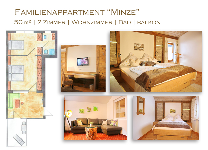 "Familienapartment ""Minze"" im Hotel Steiger"